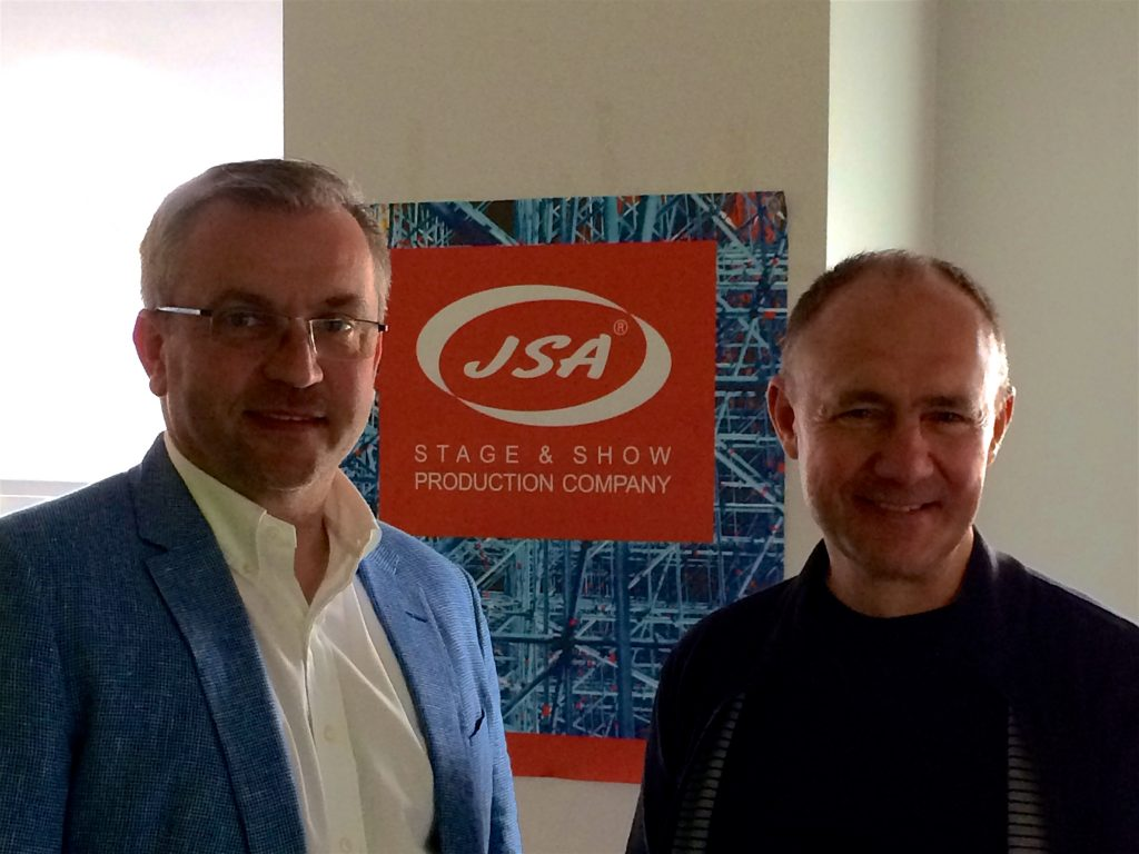 Piotr Wcisłek and Alexander Strizhak in the office JSA Europe / Riga